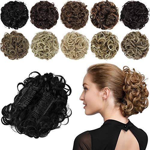 Synthetic hair buns