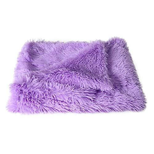 ERFHJ Deep Sleeping Fluffy Long Plush Pet Blankets Dog Cat Bed Mats Soft Thin Covers for Summer Winter Bed Use Blankets Cat Mattress,Z