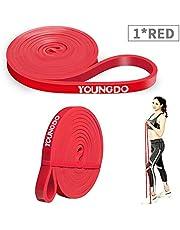 YOUNGDO Banda de Resistencia - Banda para dominadas Bandas Elasticas de Fitness para Crossfit/Powerlifting/Yoga/Ejercicios de Estiramientos(Paquete Individual/Paquete Doble /7 Colores)