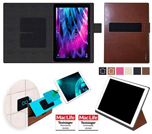 Hülle für Medion Lifetab P10325 Tablet Tasche Cover Case Bumper   Testsieger   Braun Leder