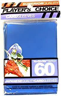 YuGiOh Players Choice 60 Count YuGiOh Size Japanese Quality Gaming Card Sleeves Metallic Blue