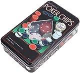 Blackjack Sets 100 Juegos De Póquer Juego De Cartas para Amigos Familiares Fiesta Patrocinada Entretenimiento con Caja De Hojalata
