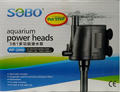 Submersible Power Head - WP-2990-25W- F.Max 1500L/H - Sobo Internal Water Pump - for Top Filtration Spare Part