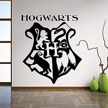 Wandaufkleber Wandtattoo Hogwarts Logo Kinderzimmer Dekoration Hogwarts Wappen Aufkleber Harry Potter Geschenk Amazon De Baumarkt