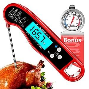 Termometro Cocina, Termometro Digital Cocina, Termometro Carne impermeable con Sonda Larga, Termometro Barbacoa Ultra Rápido para Liquidos, Parrilla, Alimento, BBQ, Agua, Termometro Horno Extra
