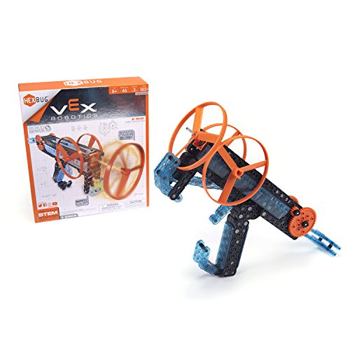 HEXBUG VEX Robotics Z-360 - Ripcord Disc Launcher - DIY Top Launcher Kit - STEM Toy for Kids