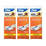 TERRO T3206SR 3-Pack Spider & Insect Trap-12 Traps, 3 Pack