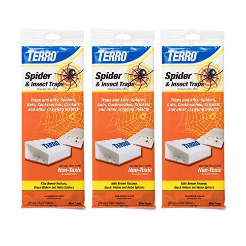 TERRO T3206SR Spider & Insect Traps – 12 Traps
