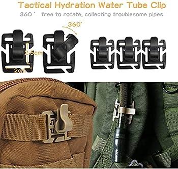Simorce Tactical Bag Clip Strap Set pour Sac à Dos Tactique Molle, Serrure à Anneau en D, Cordon élastique et Boucle Web Dominator, Sangles Mod, Porte-clés