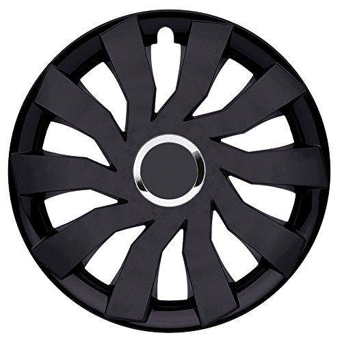 CM DESIGN Cliff Plus Black–15Pulgadas, Apta para Casi Todas Las Fiat, por Ejemplo para Seat 600