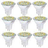 ZJYX Bombilla LED GU4 MR11 12V para Foco Cocina, 5W LED para Sustituir Halógenos de 50W, No Regulable, Luz 120º, AC/DC 9-30V Foco Empotrable LED para Techo/Baño, Pack de 9,Cool White 6000k