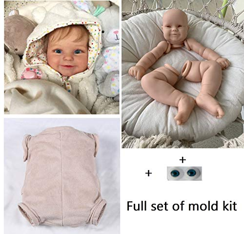 Pinky Sin Pintar Silicona Reborn Doll Kit Set Accesorios de Suministro de Piezas Ideal para DIY Bebe Reborn Doll Acabado Tamaño del Molde 22 Pulgadas (DKMaddie) (C)