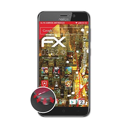 atFolix Schutzfolie kompatibel mit TP-Link Neffos C7 Folie, entspiegelnde & Flexible FX Bildschirmschutzfolie (3X)