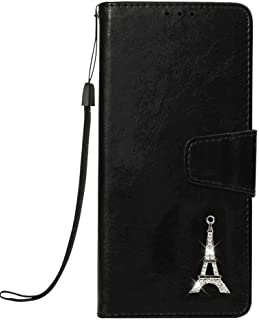 Stylish Cover Compatible with Samsung Galaxy A70S, black Leather Flip Case Wallet for Samsung Galaxy A70S