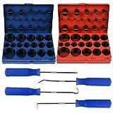 QLOUNI 826 Piece Universal O-Ring Kits Assortment SAE + Metric Rubber NBR O-Ring Gasket Se...