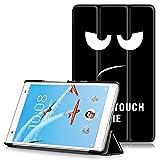 Lenovo Tab 4 8 Plus Étui, Housse Ultra Mince et Léger à Rabat avec Support et Fonction Réveil/Sommeil Automatique pour Lenovo Tab 4 8 Plus (TB-8704F) Tablette Tactile 8' Modèle 2017, Grands Yeux