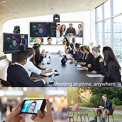 10X Optical Zoom 1080P PTZ Camera USB2.0 Video Conference Camera, HD 1080p Conference Room Camera Video Conferencing SystemComputer Camera for Live Streaming YouTube, Skype, Zoom Meeting
