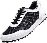 WUDAXIAN Los Zapatos de Golf de los Hombres, Ligeros, Transpirables, sin púas, ata para Arriba Las Zapatillas de Deporte Casuales de la Malla del Verano
