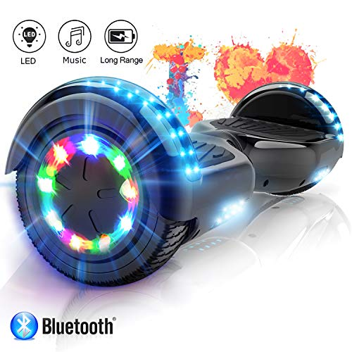 COLORWAY Hover Scooter Board Hoverboard 6,5 Zoll Elektro Scooter Self Balance Board - Bluetooth - LED Lichter - EU Sicherheitsstandards
