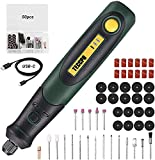 Cordless Rotary Tool TECCPO, 3.7V With 50pcs Accessories, USB Charging Mini Rotary Tool, 3-Speed for Light DIY, Polishing, Cleaning and Engraving