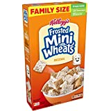 Kellogg's Breakfast Cereal, Frosted Mini-Wheats, Original, Low Fat, Excellent Source of Fiber, Family Size, 24 oz Box