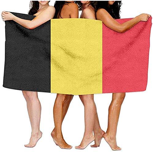 Niet van toepassing Beach Towel Vlag van België Zacht Lichtgewicht Absorbens voor Bad Zwembad Yoga Pilates Picknick Deken Handdoeken