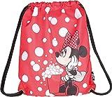 Baagl Disney Minnie Sportsack für Sport und Schule - wasserdichte Schuhbeutel