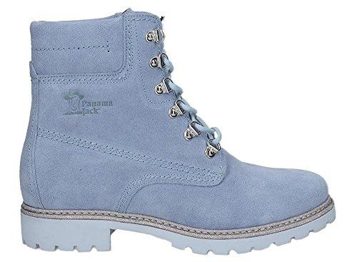 Panama Jack Damen Stiefel Panama 03 Glitter,Frauen Boots,Lederstiefel,Schnürstiefel,Combat,Chukka,Lila,EU 38