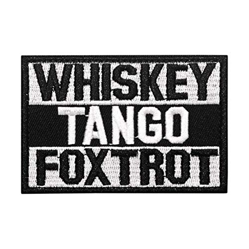 Cobra Tactical Solutions Parche Militar Patch Whiskey Tango Foxtrot con Cierre de Velcro para Airsoft, Paintball, Ropa táctica y Mochila
