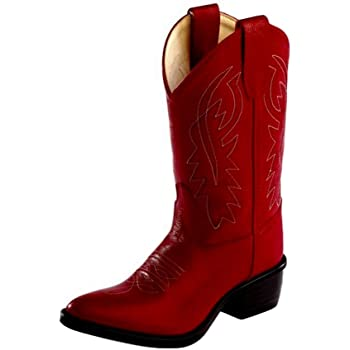 Red Leather Western Cowboy Boot