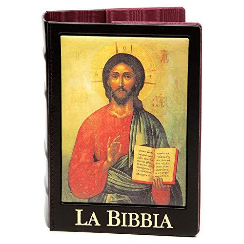 Holyart Deckel Bibel Jerusalem echte Leder Ikone, Gottesmutter von Wladimir