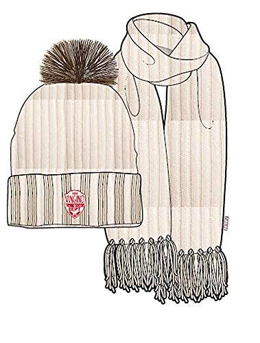 Vingino Mädchen 2tlg. Winterset Mütze Schal Vesna Off White Geschenkverpackung...