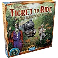 Ticket to Ride The Heart of Africa Board Game EXPANSION   Board Game for Adults and Family   Train Game   Ages 8+   For 2 to 5 players   Average Playtime 30-60 minutes   Made by Days of Wonder