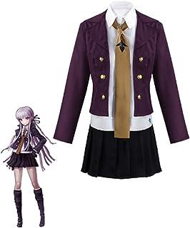 Disfraz de cosplay de anime Danganronpa Kirigiri Kyouko, incluye peluca morada, lentes de contacto cosméticas, Halloween, ...