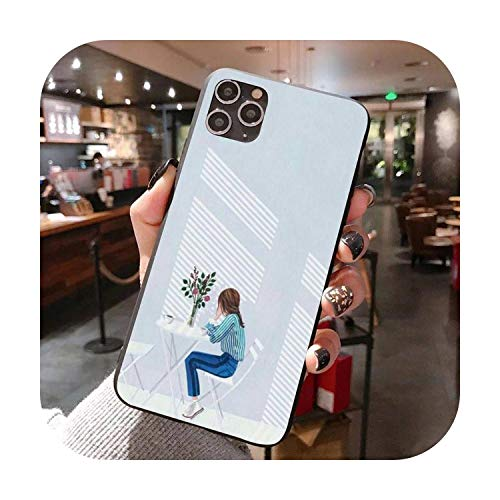 The Artsy Girl - Funda de lujo para iPhone XS 11 11 Pro 5 5s SE 6 6s Plus 7 8 SE 2020