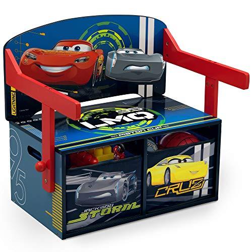 Delta Children Kids Convertible Activity Bench, Disney/Pixar Cars