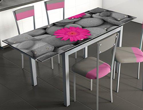 Abitti Mesa de Cocina Extensible en Cristal Templado. 170x70