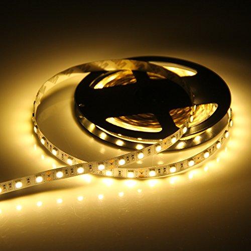 Bedler 5 Mt DC 12 V LED 5050 tira de luz 300 LED barra de luz LED flexible luz nocturna LED luz de Navidad tira LED luz luz luz para habitación fiesta bar decoración blanco cálido