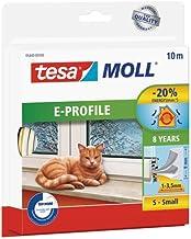 tesa moll E-profiel rubberen afdichting - zelfklevende afdichting voor het isoleren van spleten op ramen en deuren - wit -...