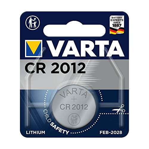 VARTA Batterien Electronics CR2012 Lithium Knopfzelle 1er Pack Knopfzelle in Original 1er Blisterverpackung
