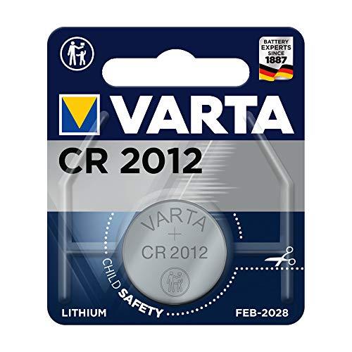 Varta batterijen Electronics CR2012 lithium knoopcel 3V batterij in originele blisterverpakking