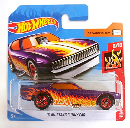 /'71 Mustang FUNNY CAR-HW Flames 57-NUOVO IN SCATOLA ORIGINALE HOT WHEELS 2019