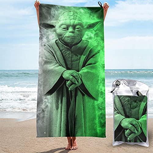 Darth Vader Baby Yoda Star The Wars Toalla mandaloriana de secado rápido, ligera, suave toalla de baño para playa, natación, gimnasio, viajes, camping, 27,5 x 139,7 cm