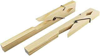 Tansoole Laboratory Supplies 180mm Wooden Test Tube Clamps Experimental Immobilization Tool Equipment Clip