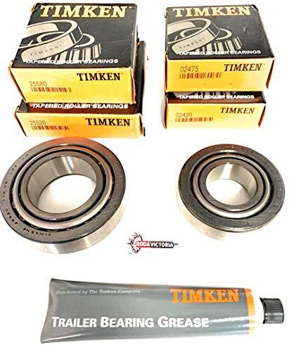 K4-100 8,000 lb.Trailer Bearing Kit 25580/25520 02475/02420 TIMKEN Bearings