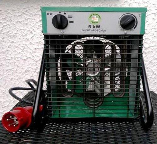 Heizlüfter 5000 Watt Bauheizer Heizgerät Bautrockner Elektroheizer Bauheizung