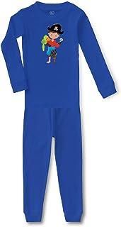 Cute Rascals Pirate Boy Captain S Cotton Crewneck Boys-Girls Sleepwear Pajama 2 Pcs Set