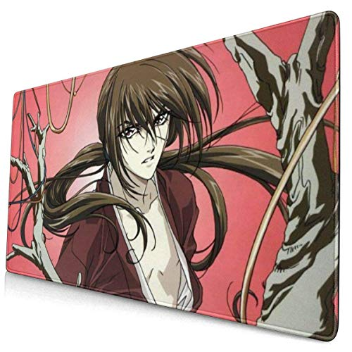 Anime Rurouni Kenshin Mouse Pad with Stitched Edge Premium-Textured Oversized Non-Slip Rubber Gaming Mouse Pad/Computer Desk Pad/Keyboard pad (15.8x29.5 Inches)