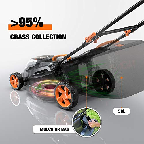 TACKLIFE L9 36V 16-In Cordless Lawn Mower with Battery and Charger