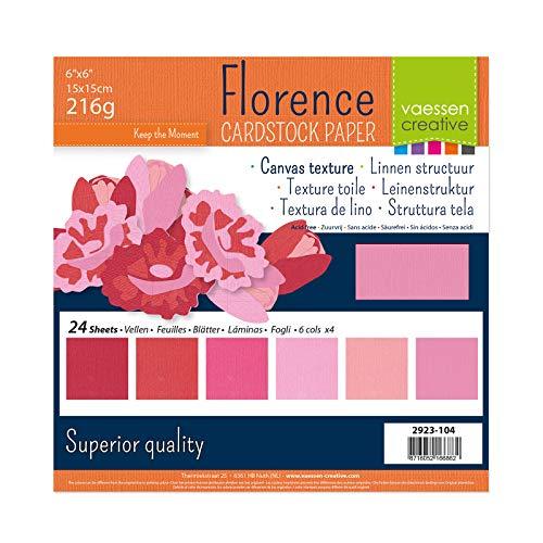 Vaessen Creative Cardstock Canvas Texture Scrapbook Paper, Paper, Pink